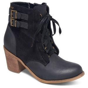 Roxy Tempe Lace Up Heeled Bootie